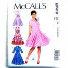 Misses Dresses 14 16 18 20 22 McCalls Sewing Pattern MP410