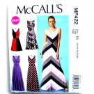 Misses V Neckline Dresses 14 16 18 20 22 McCalls Sewing Pattern MP422