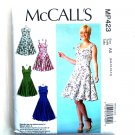Misses Fit Flare Dresses 6 8 10 12 14 McCalls Sewing Pattern MP423