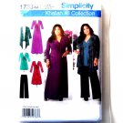 Misses Knit Dress Cardigan Pants 10 12 14 16 18 Simplicity Sewing Pattern 1733