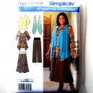 Womens Tunic Top Pants Skirt Plus Size Simplicity Sewing Pattern 2195