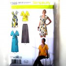 Misses Knit Dress Tunic Pants 16 18 20 22 24 Simplicity Sewing Pattern 2369