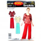 Pants Tops Misses Size Its So Easy Simplicity Pattern E1857