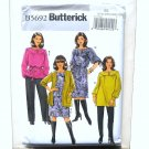 Womens Cardigan Top Tunic Dress Belt Pants Plus Butterick Pattern B5692