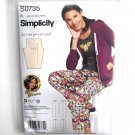 Childs Teens Adults Pants Easy Simplicity Sewing Pattern S0735