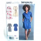 Misses Shirt Dress Simplicity Sewing Pattern S0982