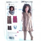 Misses Lined Vest Scarf Simplicity Sewing Pattern S0984