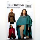 Misses Wrap Cape Size XS S M Out of Print Easy Butterick Pattern BP247