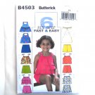 Childrens Girls Top Skort Shorts Size 6 - 8 Butterick Pattern B4503