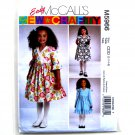 Girls Lined Dresses 2 - 5 Easy McCall's Sewing Pattern M5966