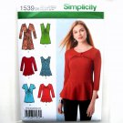 Misses' Knit Tunic Peplum Top Simplicity Sewing Pattern 1539
