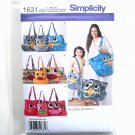 Leslie Asch Totes 3 Sizes Simplicity Sewing Pattern 1631