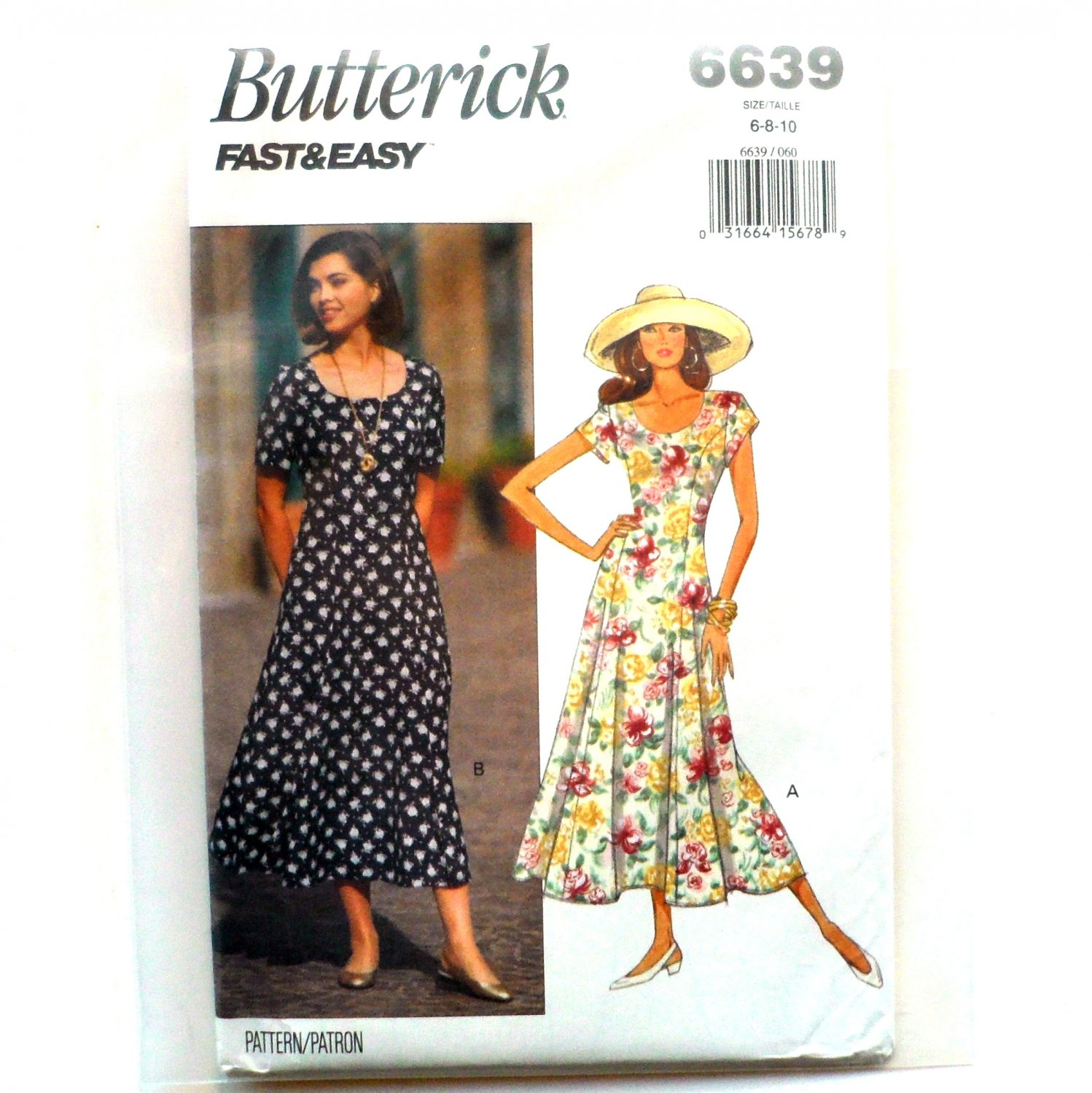 6c2b8b7f3990 Misses  Petite Vintage Dress 6 8 10 OOP Butterick Sewing Pattern 6639