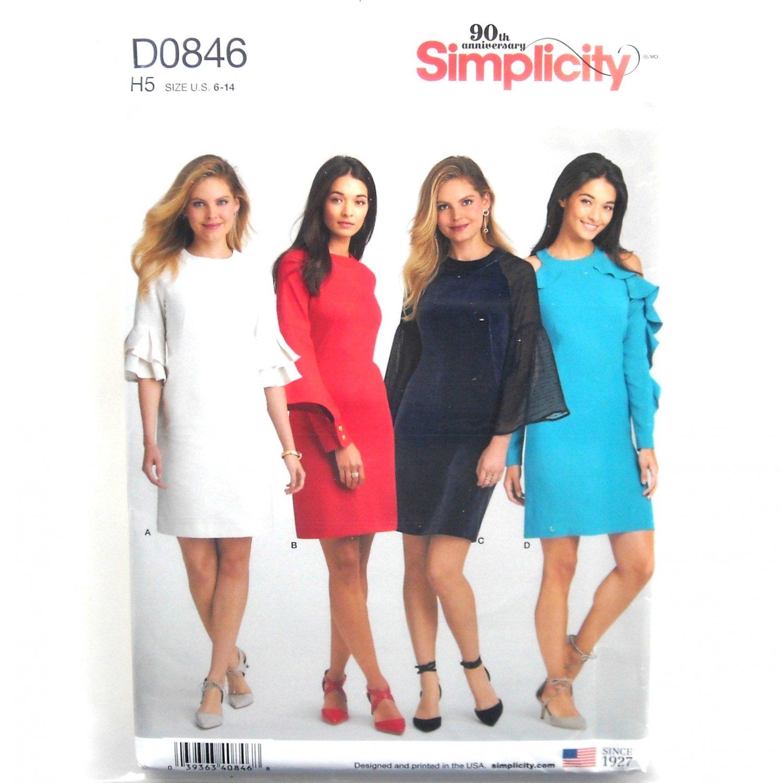 8923693fc1e Misses  Dresses Simplicity Sewing Pattern D0846