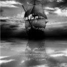 Wooden Pirate Ghost Ship FogCalm Ocean Nostalgic Nautical Wall Art Picture Photo