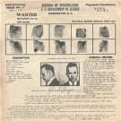 John Dillinger 1934 Wanted Poster Bank Robber Photo
