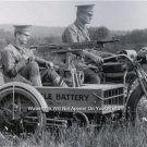 World War One Soldier Machine Gun Indian Motorcycles Photo American Made Bike