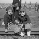 LARGE VINTAGE 1910 YOUTH FOOTBALL PHOTO YOUNG BOYS LEATHER HELMETS OLD SCHOOL