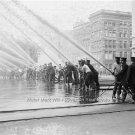 FIREMEN TESTING THEIR EQUIPMENT NEW YORK 1920 RARE PHOTO SAFTY PROTECTION