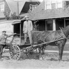 SHARP PHOTO HORSE DRAWN HOME DELIVERY WAGON NOSTALGIC 1914 GENERAL STORE GOODS