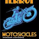 VINTAGE TERROT MOTORCYCLE DIJON FRANCE GERMAN MOTORIZED BICYCLES TWIN CYLINDER
