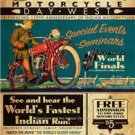 INDIAN CHIEF SCOUT MOTORCYCLES VINTAGE LOOKING POSTER PHOTO AMERICAN MADE BIKES