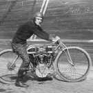 Vintage V Twin Excelsior British Motorcycle Board Track Racer Wall Shop Photo