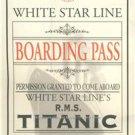 RMS TITANIC AMAZING RARE BOARDING PASS PHOTO 1912 WHITE STAR PASSENGER SHIP LINE