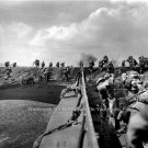 PHOTO LANDING U.S. MILITARY IWO JIMA ARMY 1945 MARINES WORLD WAR II D DAY NAVAL