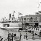 Detroit Belle Isle Passenger Ferry Boat Steamship 1906 Photo Nautical Theme Art