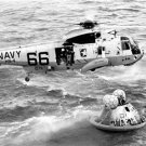 APOLLO 11 SPACE CAPSULE COLUMBIA ASTRONAUTS NAVY SEALS HELICOPTER RESCUE PHOTO