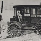 UNITED STATES MAIL TRUCK R.F.D. 1920 BLACK AND WHITE PHOTO MAIL CARRIER POSTMAN