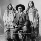 NATIVE AMERICAN APACHE INDIAN CHIEF GERONIMO 1907 PHOTO NIECES WESTERN PLAINS