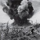 U.S. MILITARY IWO JIMA MARINES WORLD WAR II PHOTO 1945 JAPANESE SOLDIERS BOMBS