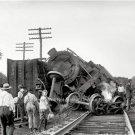 TRAIN WRECK LAUREL MARYLAND RAILROAD PHOTO 1922 STEAM COAL LOCOMOTIVES ENGINEER