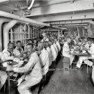 USS MASSACHUSETTS NAVY SHIPS CREW PHOTO 1900 SAILORS UNIFORMS NAVAL VETERANS