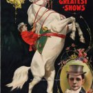 RINGLING BROTHERS WORLDS GREATEST SHOWS HORSE POSTER PHOTO CLOWNS LIONS TIGERS