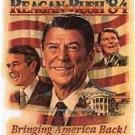 Ronald Regan George Bush Presidential Political Republican Campaign Poster Photo