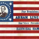 Abraham Lincoln Presidential Political Republican Election Campaign Poster Photo