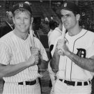 MICKEY MANTLE ROCKY COLAVITO 1961 PHOTO DETROIT TIGERS NEW YORK YANKEES BASEBALL