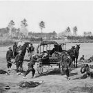 CIVIL WAR AMBULANCE CREW PHOTO CONFEDERATE UNION SOLDIERS DEAD WOUNDED DISEASED