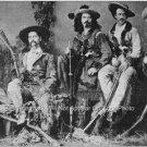 Buffalo Bill Wild Bill Hickock Texas Jack 1867  Photo