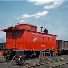 Vintage Trains Railroads Caboose Chicago North Western Transportation 1943 Photo