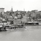 THE MISSISSIPPI RIVER FRONT WITH PADDLE WHEEL STEAMBOATS 1904 PHOTO VINTAGE LOOK