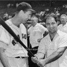 Ted Williams  with Rocky Marciano Rare Baseball Photo