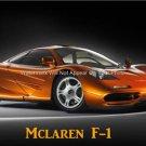 MCLAREN F-1 ENGLISH HIGH PERFORMANCE AUTOMOTIVE LUXURY SPORTS CAR PHOTO