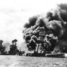 JAPANESE ATTACK PEARL HARBOR NAVAL BASE PHOTO USS ARIZONA WEST VIRGINIA TENNESSE