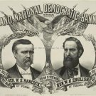 1880 PRESIDENTIAL CAMPAIGN POSTER PHOTO GENERAL HANCOCK DEMOCRATIC WHITE HOUSE