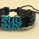 Monogram Bracelet Acrylic with Leather