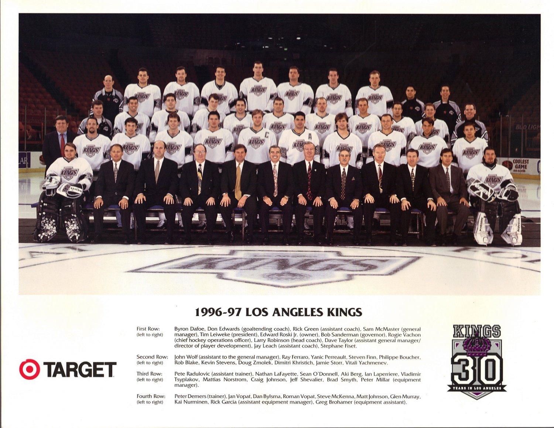 1996-97 Los Angeles Kings Photo From Target Hockey NHL